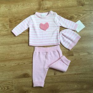 🆕3-6Month Adorable Infant 3 Piece Outfit